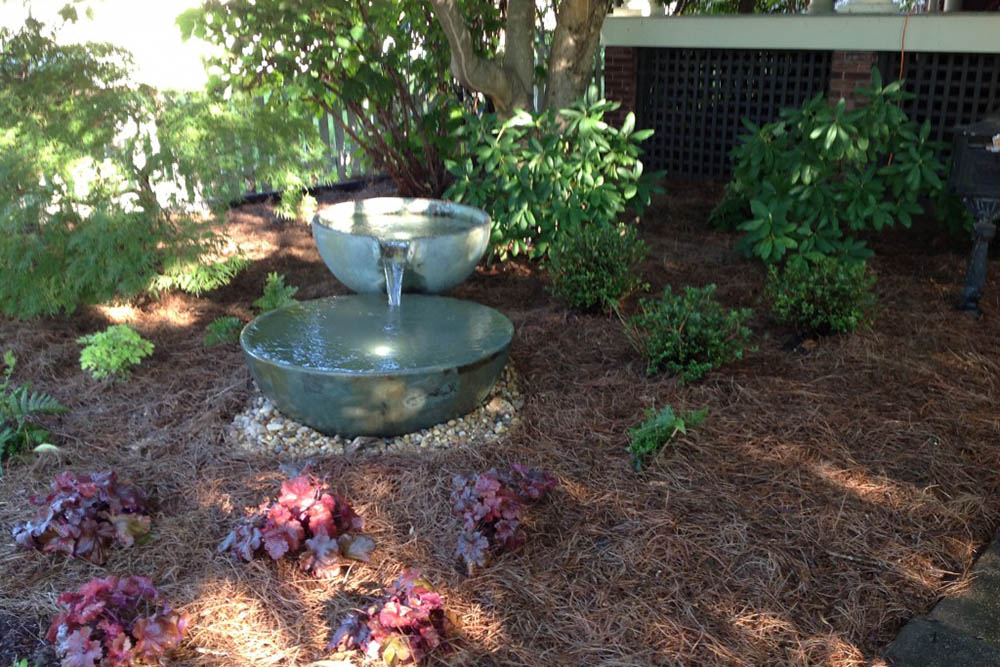 Double Spillway Bowl Fountainscape