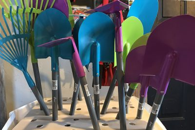 Garden Hoes, Rakes And Shovels At JVI Secret Gardens