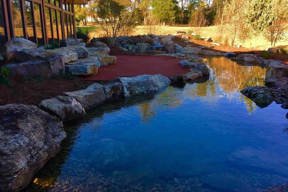 Large Pond With Large Rocks
