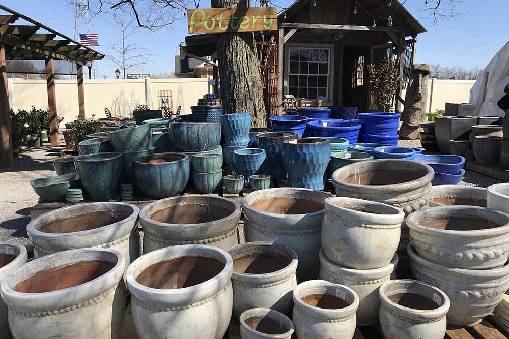 Pottery Section At JVI Secret Gardens In Nashville