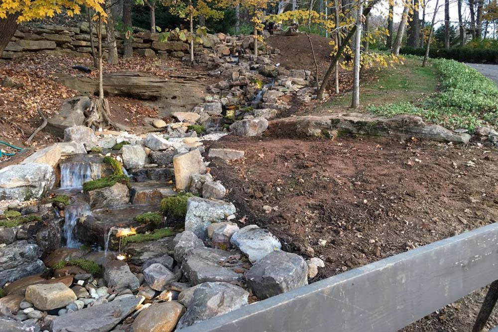 Stream Down Hill Into Pondless