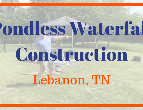 Pondless Waterfall Construction in Lebanon, TN