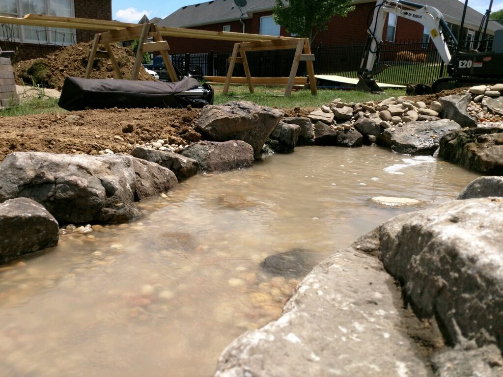 Pondless Water Feature Construction in Lebanon, TN