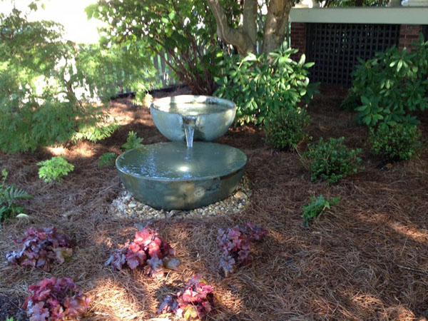 Spillway bowl fountains in natural area